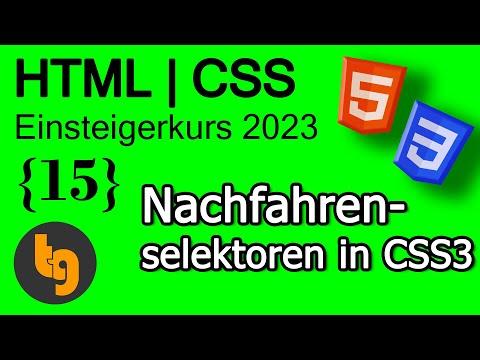 Nachfahrenselektoren In CSS - HTML5   CSS3 Grundlagen Tutorial 2020