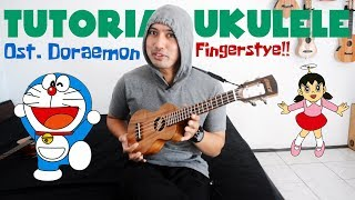 TUTORIAL UKULELE: Ost. Doraemon | Fingerstyle Full