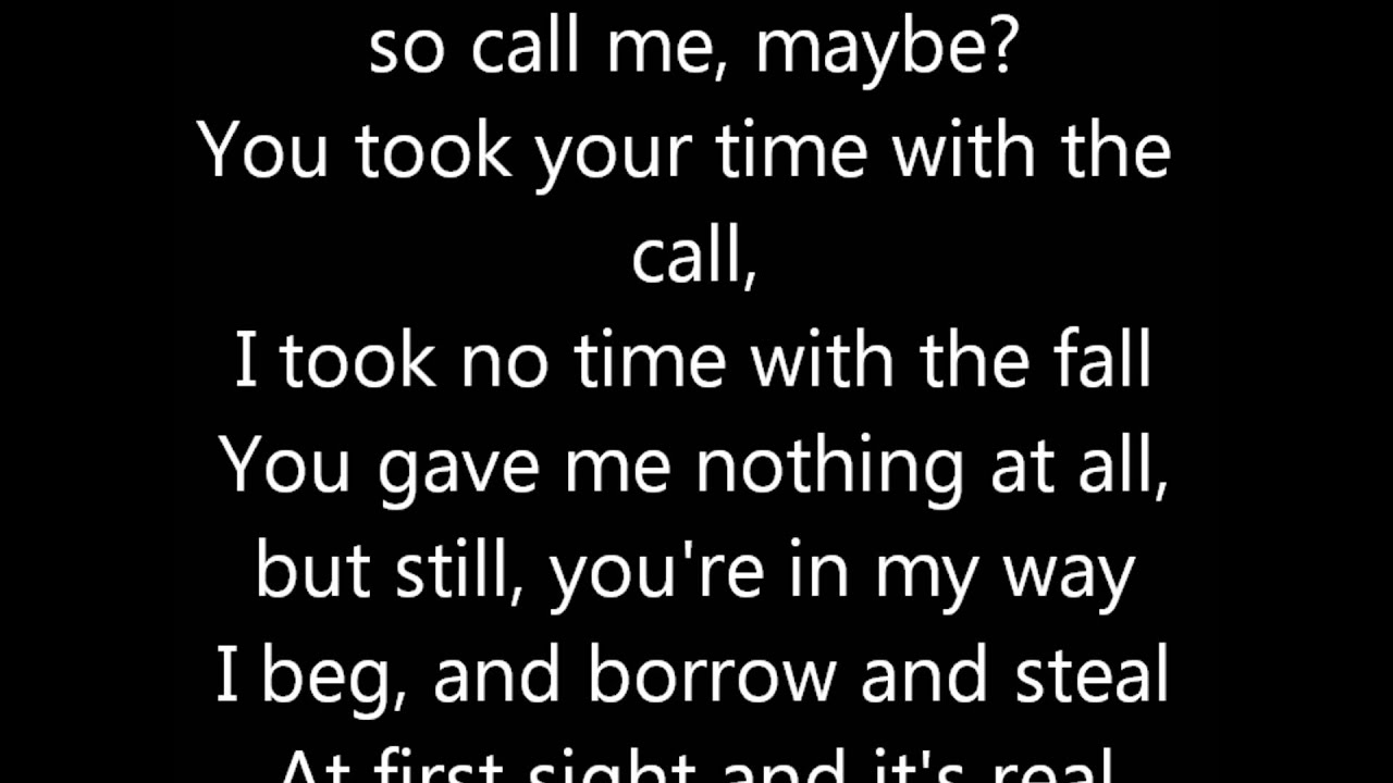 Call Me Lyrics