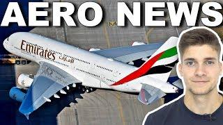 Doch A350 für EMIRATES? ENDE für den A380! AeroNews