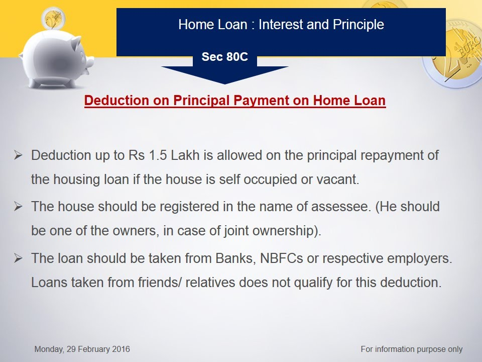 home loan interest and principle section 24 and section 80c how to save tax part 13