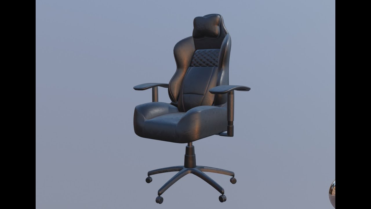 Modeling A Gaming Chair In Blender 2 8 Speed Modeling Youtube