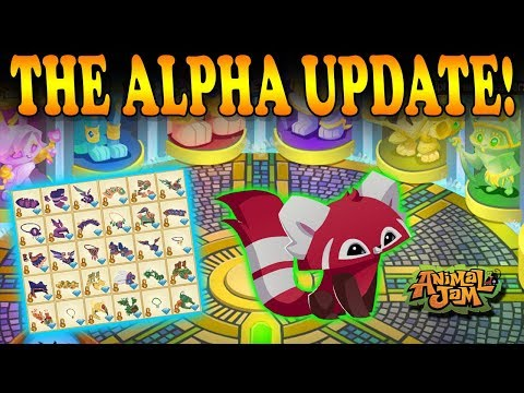 Animal Jam Released 30 New Alpha Items! Red Pandas Are Here!