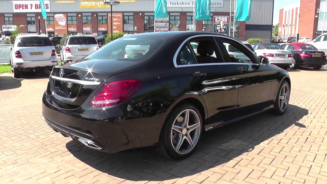 mercedes benz c class c220 bluetec amg line 4dr auto u21723 youtube. Black Bedroom Furniture Sets. Home Design Ideas