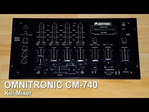Cleaning an Omnitronic Dj mixer