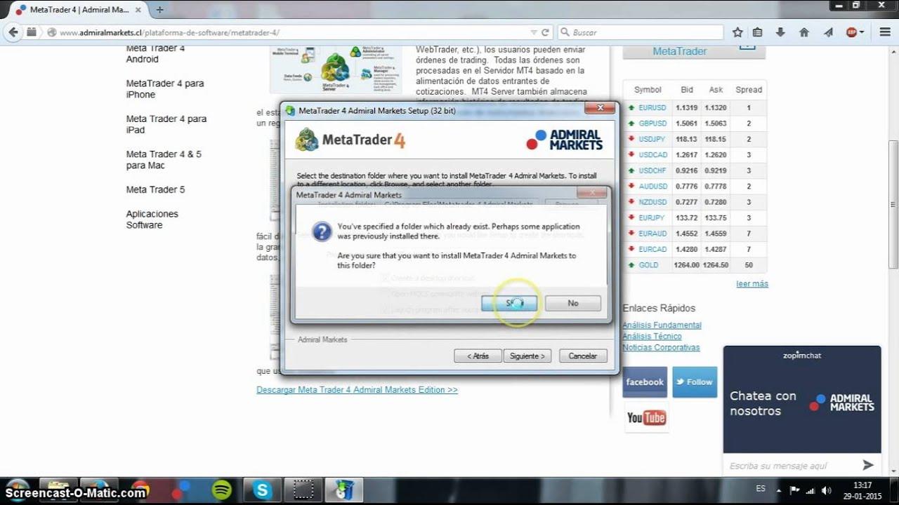 Como Instalar El Programa Metatrader 4 En Tu Pc Windows Youtube