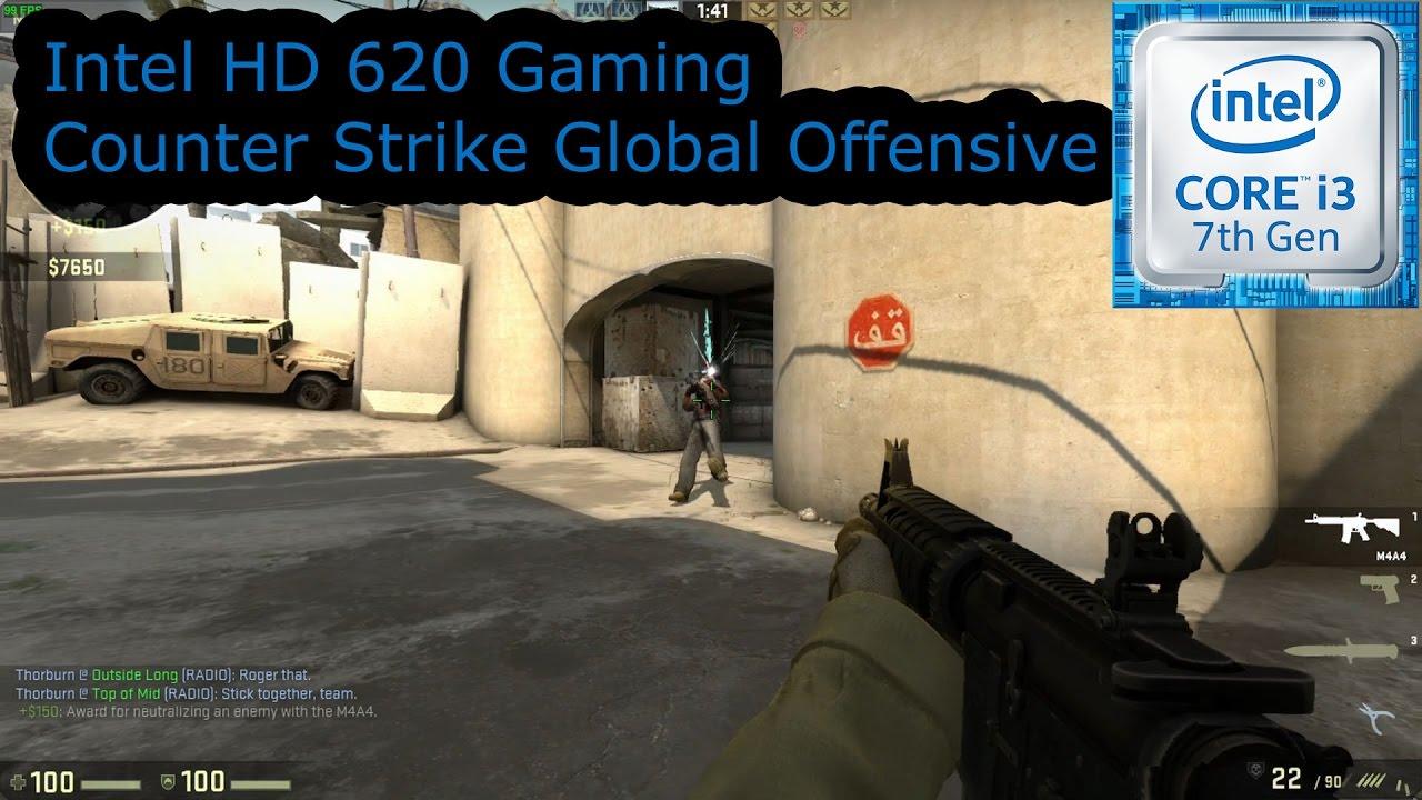 Intel HD 620 Gaming - Counter Strike Global Offensive - i3-7100U, i5-7200U,  i7-7500U, Kaby Lake