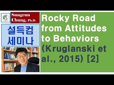 [설득컴세미나] 제14.2강 태도에서 행동에 이르는 험난한 길 (Kruglanski Et Al., 2015) [2]