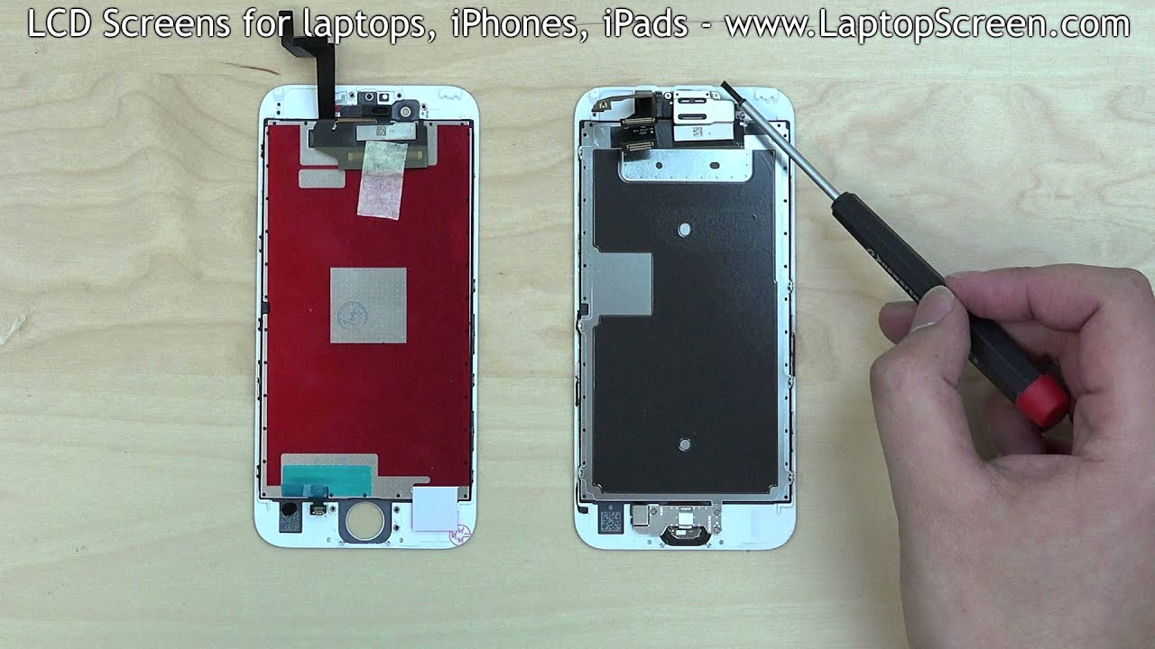 best service 07a42 b1f4c iPhone 6S screen replacement / digitizer glass and LCD reinstallation  instructions