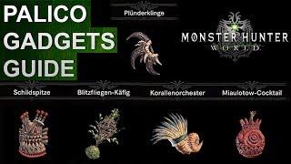 Monster Hunter World: Alle  Palico Gadgets Guide (Deutsch/German)