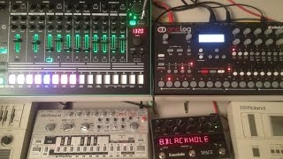 First acid jam with 7X7-TR8 + A4 + Devilfish TB-303 by Honeysmack