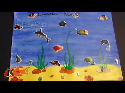 Draw Under Water Scene | How To | JK Easy Craft 014