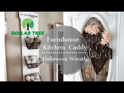 DOLLAR TREE DIY | HALLOWEEN DECOR | FARMHOUSE KITCHEN DECOR