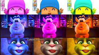Baby Learn Colors with My Talking Tom Colours for Kids Booba and Pocoyo Education Cartoon
