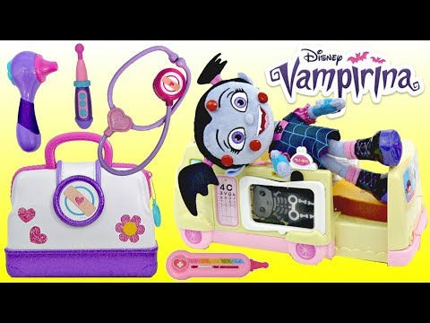 VAMPIRINA Visits DOC MCSTUFFINS Toy Hospital Pretend Play for Kids