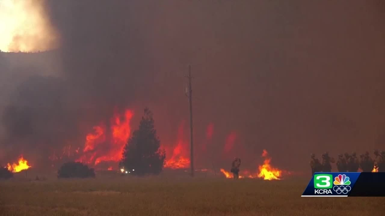 Grass Fire In Placer County Caused By Farm Equipment, Cal Fire ...