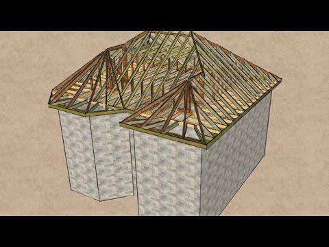 Крыша с эркером