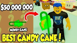 I GOT THE BEST CANDY CANE IN GROW A CANDY CANE SIMULATOR!! (Roblox)