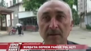 BURSA'DA 4 6 BÜYÜKLÜĞÜNDE DEPREM