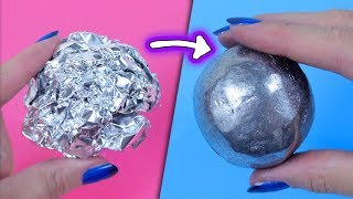 MIRROR POLISHED JAPANESE FOIL BALL CHALLENGE! DIY Only With Hammer! No Sandpaper!