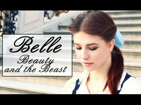 How To Create Belles Hairstyle From Beauty And The Beast : Belle make up tutorial & diy costume beauty and the beast youtube