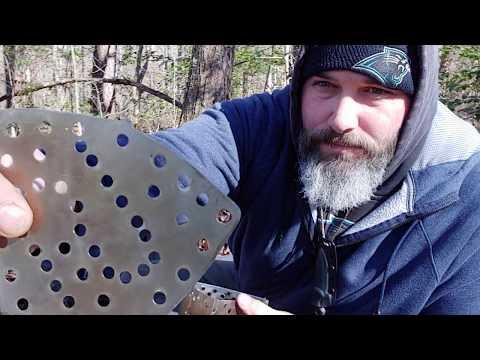 Diy Trangia triangle wood burning plate + small pot mod