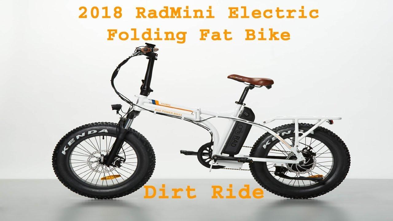 2018 RADMINI ELECTRIC FAT FOLDING RAD POWER BIKE 11 Dirt Ride - YouTube