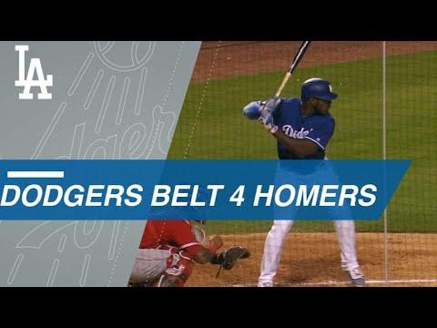 Dodgers' Puig, Hernandez, Seager and Bellinger connect for four long balls