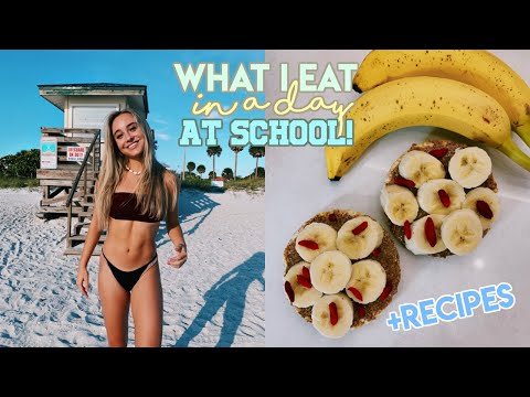 What I Eat in a Day: School Edition + Healthy Recipes thumbnail