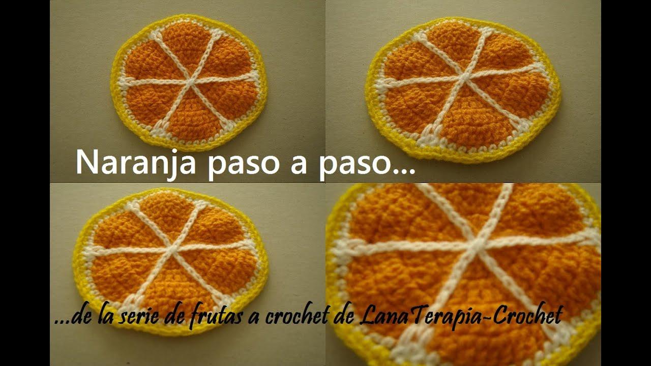 SERIE FRUTAS A CROCHET----Naranja paso a paso---- LanaTerapia by ...