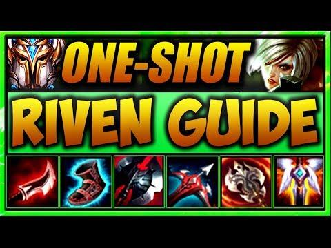 (GOD TIER) Riven ONE-SHOT Guide! - BEST Build, Runes, & GAMEPLAY   League of Legends