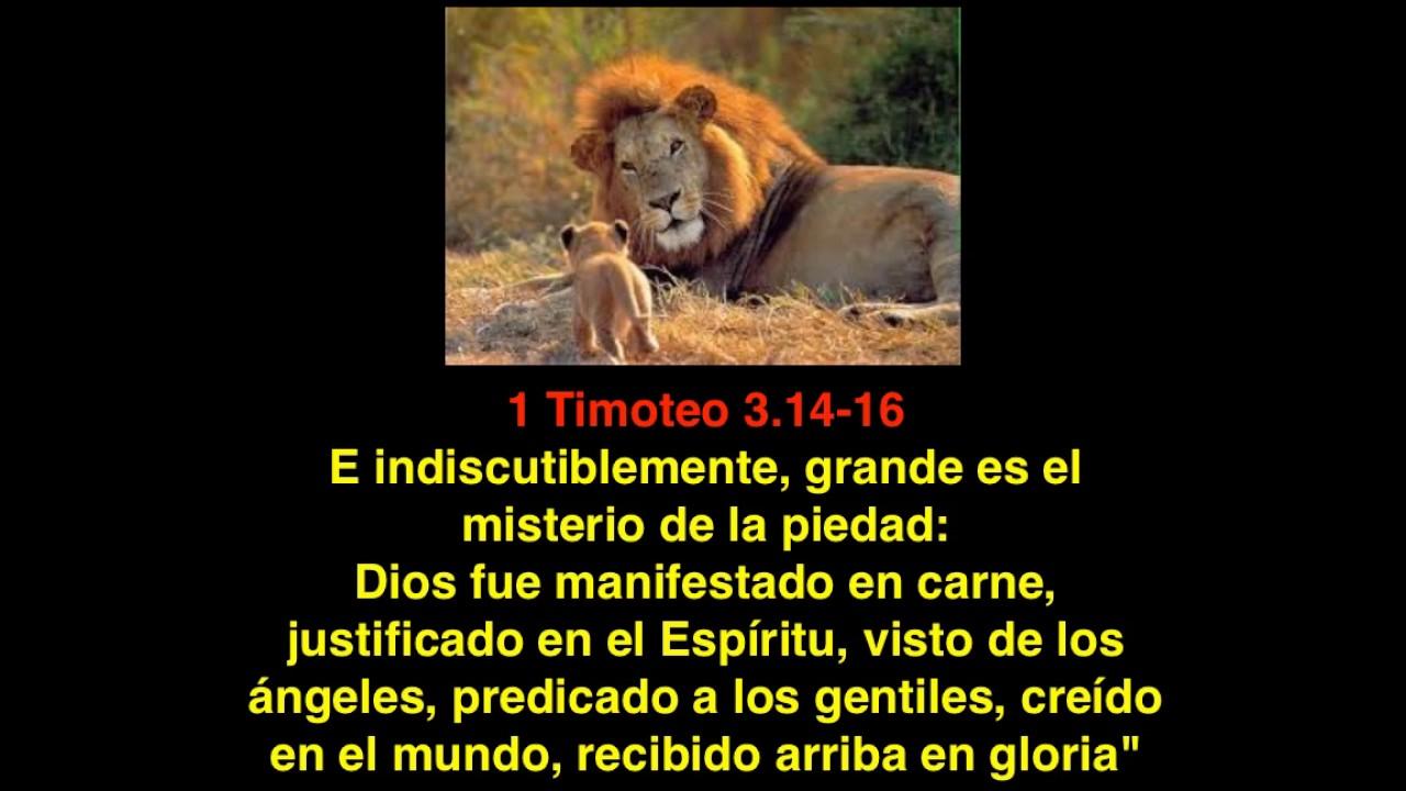 1 Timoteo 3 14 16 El Misterio De La Piedad De Dios Youtube