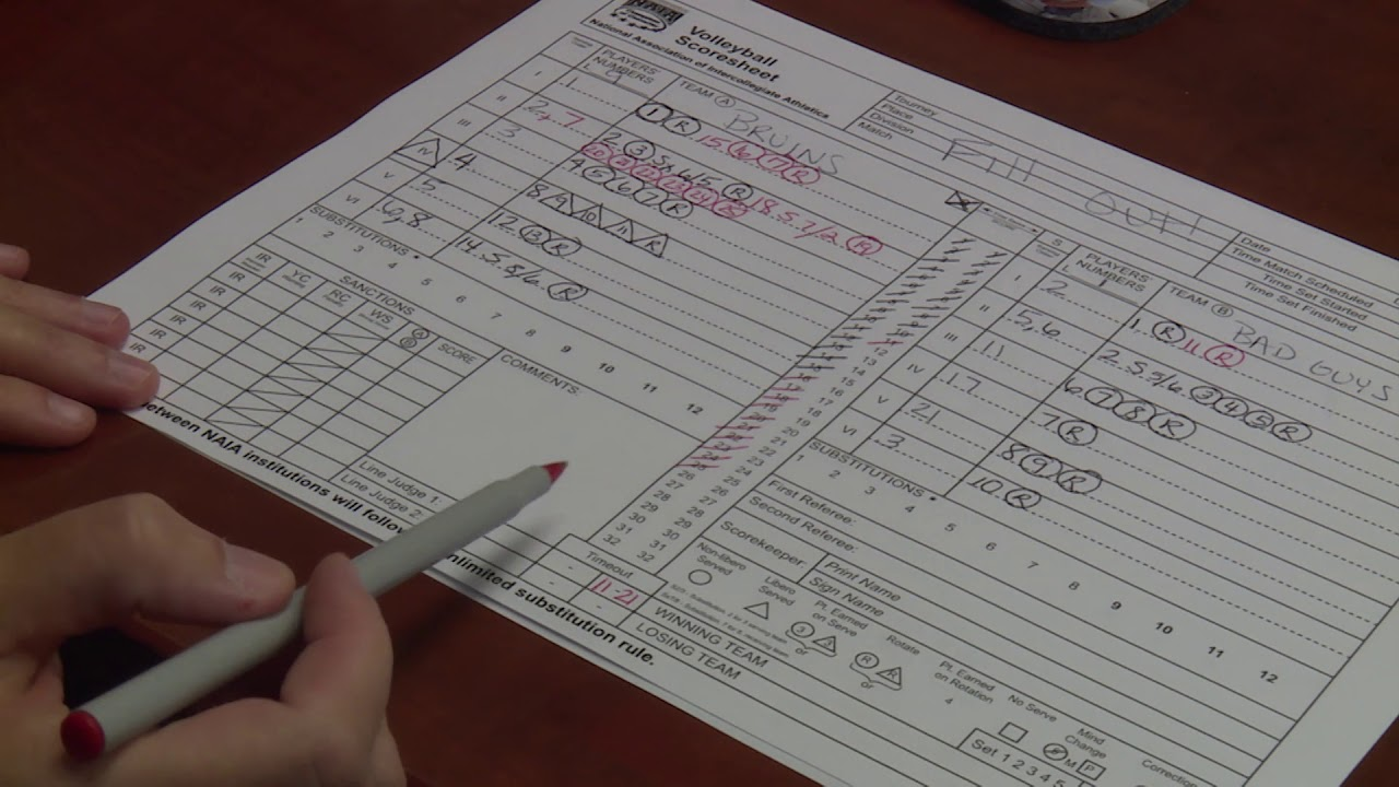 How To Keep Score In Volleyball Youtube