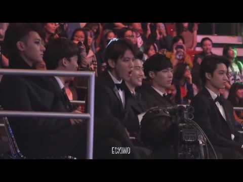 Bekhyun EXO's reaction to a song BTS - Danger