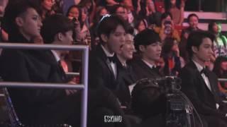 Bekhyun EXO's reaction to a song BTS - Danger