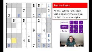 Renban Sudoku - Test Your Logic!