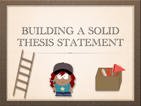 How to make a thesis statement video