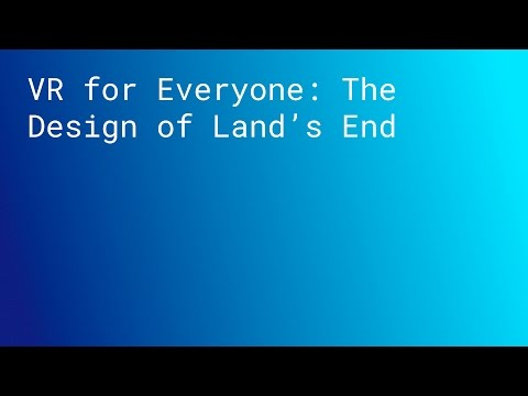 KEYNOTE: VR for Everyone: The Design of Land's End (SPAN LONDON 2015)
