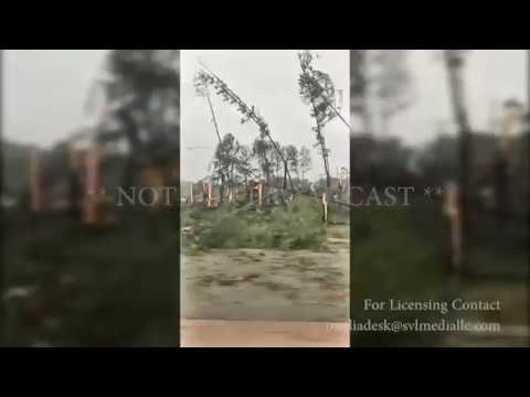 Spartanburg, SC Tornado damage Trees snapped 10-23-2017