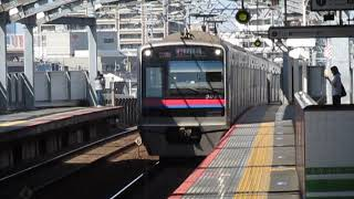 京成3000形3026F四ツ木駅高速通過