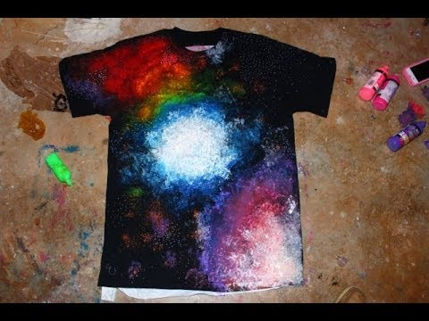 how to make a galaxy design shirt
