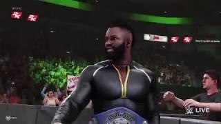 WWE 2K19  John David Washington Vs Cedric Alexander  (RAW)