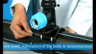 Врезка под давлением в ПНД трубы без сварки (пример). Седелка с фрезой GF Poly16Plus