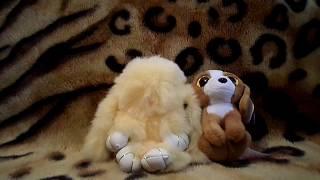 Обзор на Кролика брелка из натурального меха и мягкую игрушку собачка