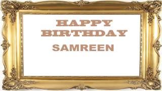 Samreen   Birthday Postcards & Postales - Happy Birthday
