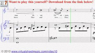 Frank's Panis Angelicus piano and voice sheet music - Video Score