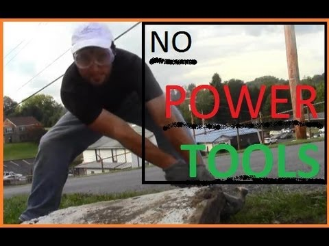 How to Remove Concrete Sidewalk Slabs With No Sledge Hammer - YouTube