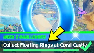 Collect Floating Rings at Coral Castle Location - Fortnite Week 5 Season 4 Challenge