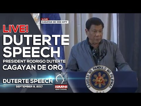 LIVE! PRESIDENT DUTERTE SPEECH @CAGAYAN DE ORO 26th Mindanao Business Conference
