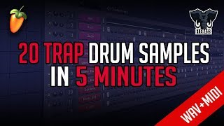 20 TRAP BEAT DRUM SAMPLES IN 5 MINUTES | WAV + MIDI